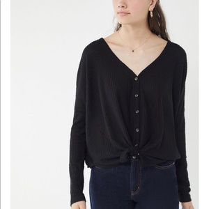 Out from Under Jojo Thermal Button Front Top
